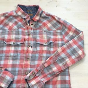 Jach's Girlfriend plaid flannel button down sz S